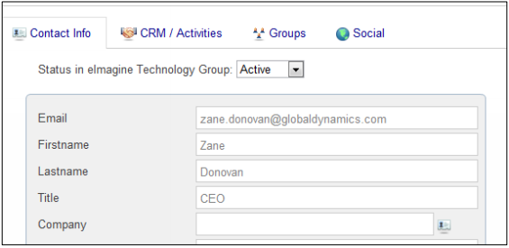 Microsoft Dynamics RICH CRM Contact