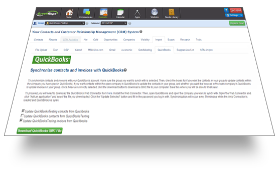 QuickBooks synchronizing with RICH CRM