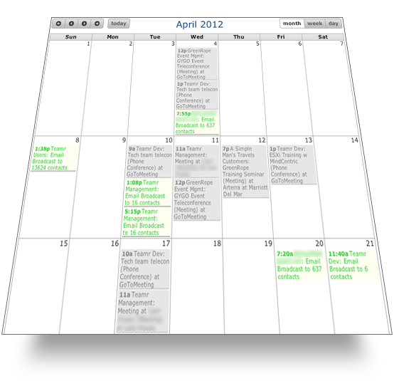 Calendar and event management